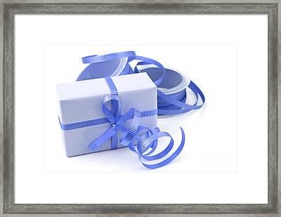 Blue Gift Framed Print by Blink Images