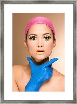 Blue Glove Framed Print by Matusciac Alexandru