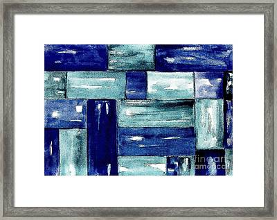 Blue Green Blue Framed Print by Marsha Heiken
