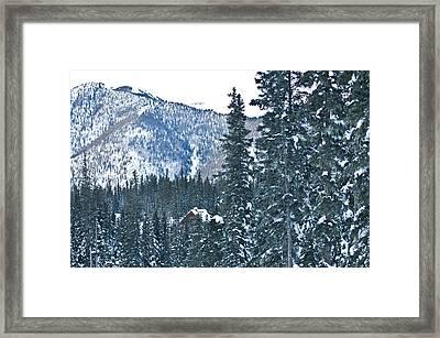 Blue Green Mountain Framed Print by Lisa  Spencer