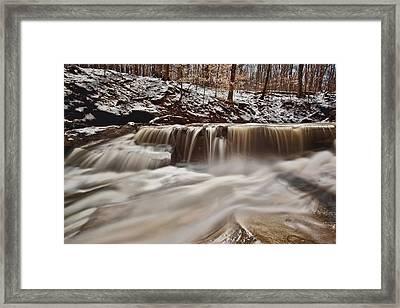 Blue Hen Falls Cascade Framed Print by Jennifer Grover