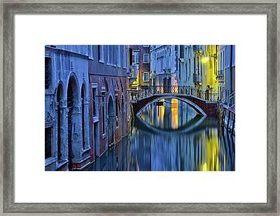 Blue Hour In Venice Framed Print by Stephanie Benjamin