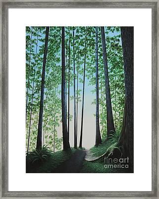 Blue In Green Framed Print by Dan Lockaby