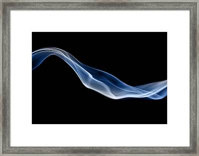Blue Jet Of Smoke Framed Print by Anthony Bradshaw