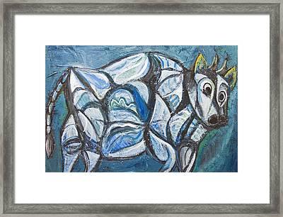 Blue Jeweled Cattle Framed Print by Kazuya Akimoto
