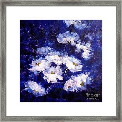 Blue Mood Framed Print by Madeleine Holzberg