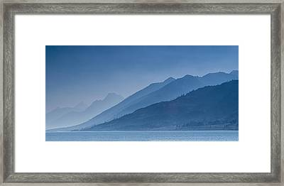 Blue Mountain Ridges Framed Print by Andrew Soundarajan