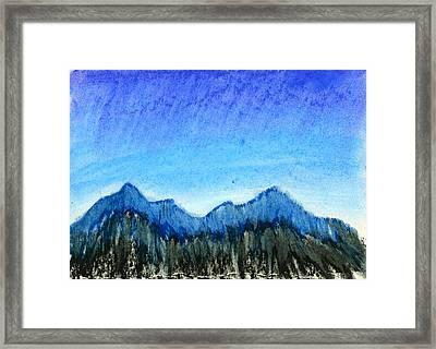 Blue Mountains Framed Print by Hakon Soreide