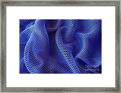 Blue Net Background Framed Print by Carlos Caetano