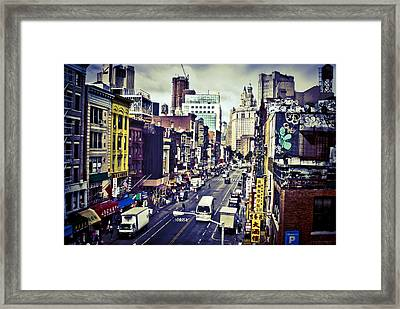 Blue New York City Framed Print by Brian Lambert