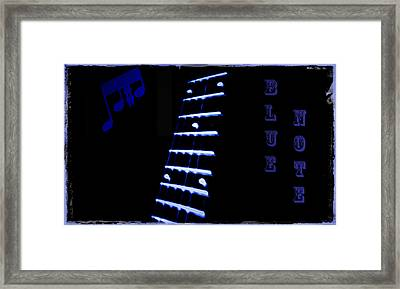 Blue Note Framed Print by Bill Cannon