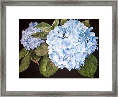 Blue On Blue Framed Print by Karen Casciani