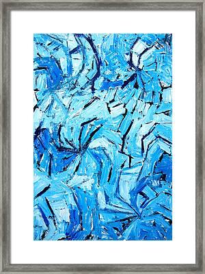 Blue Pinwheels Framed Print by Kazuya Akimoto