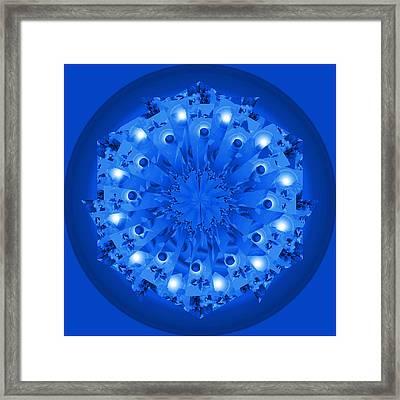 Blue Plate Framed Print by Linda Pope