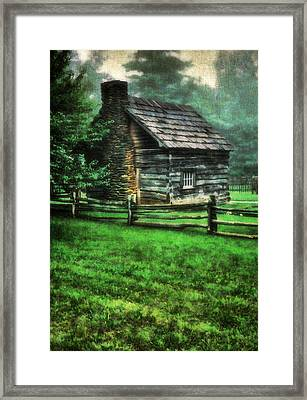 Blue Ridge Cabin Framed Print by Darren Fisher