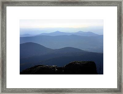Blue Ridge Mountains Framed Print by Emanuel Tanjala