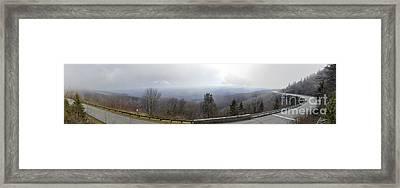 Blue Ridge Parkway Linn Cove Viaduct Panorama Framed Print by Dustin K Ryan