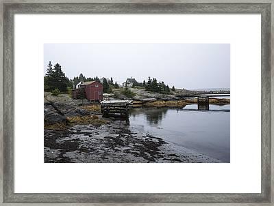 Blue Rocks Nova Scotia 8 Framed Print by John Burnett