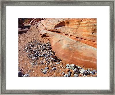 Blue Rocks Framed Print by Silvie Kendall
