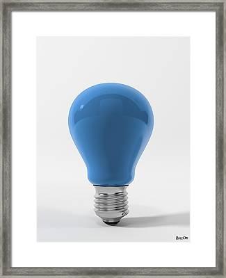Blue Sky Lamp Framed Print by BaloOm Studios