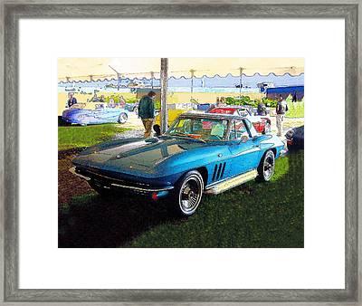Blue Steel - Chevrolet Corvette Stingray Framed Print by Kenneth Breeze