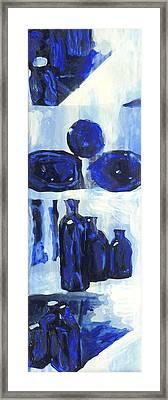 Blue Still Life Framed Print by Hatin Josee