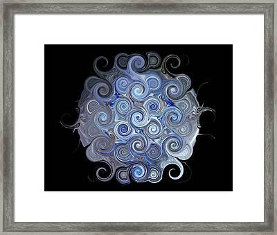 Blue Trails Framed Print by Yvette Pichette