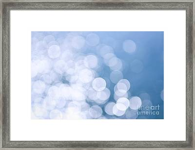 Blue Water And Sunshine Abstract Framed Print by Elena Elisseeva