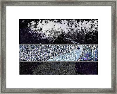 Blue Way Through Framed Print by Mathilde Vhargon