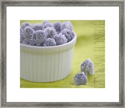 Blueberries Framed Print by Juli Scalzi