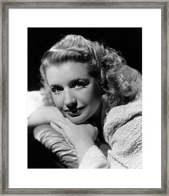 Blues In The Night, Priscilla Lane, 1941 Framed Print by Everett