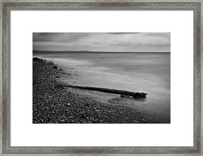 Bluffs Beach Wind Framed Print by Darren Creighton