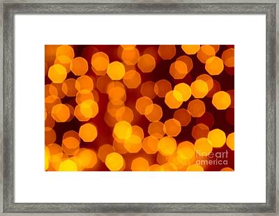 Blurred Christmas Lights Framed Print by Carlos Caetano