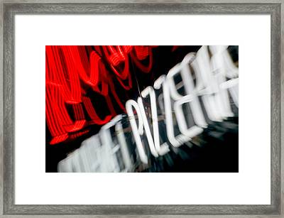 Blurred Neon Sign II Framed Print by Ray Laskowitz