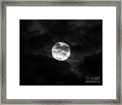 Blustery Blue Moon Framed Print by Al Powell Photography USA