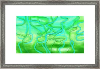 Bluzul Vergreen II Framed Print by Rosana Ortiz