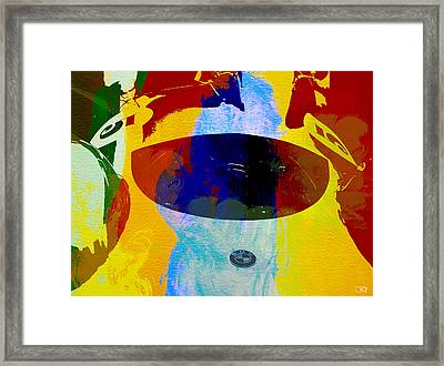 Bmw Open Cockpit Watercolor Framed Print by Naxart Studio