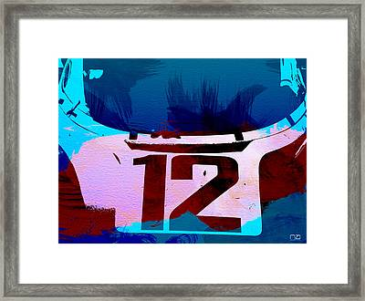 Bmw Racing Watercolor Framed Print by Naxart Studio