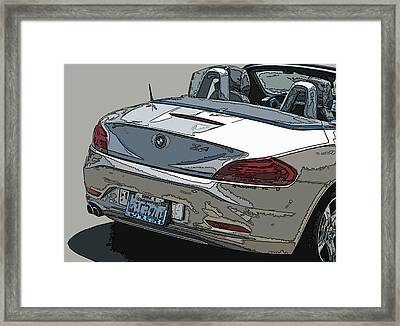 Bmw Z4 Rear Study Framed Print by Samuel Sheats