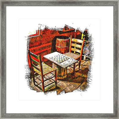 Board Games Framed Print by Michael Hodges