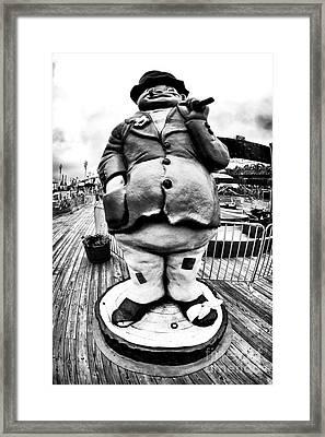 Boardwalk Hobo Framed Print by John Rizzuto
