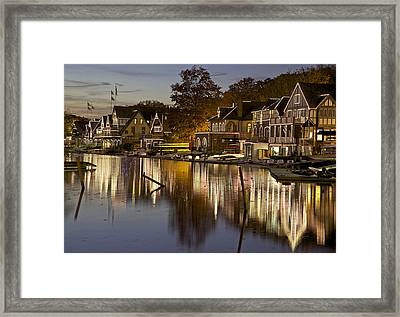 Boat House Row Framed Print by Yaz Allen