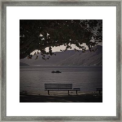 boat on the Lago Maggiore Framed Print by Joana Kruse