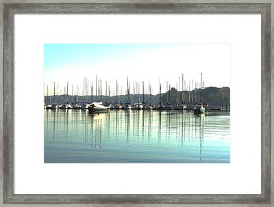 Boat Reflections Framed Print by Bill Kennedy