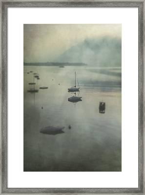 Boats In Mist Framed Print by Joana Kruse