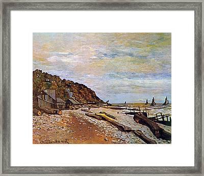 Boatyard Near Honfleur Framed Print by Claude Monet