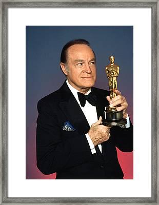 Bob Hope Eyeing The Academy Award Framed Print by Everett