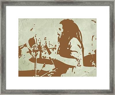 Bob Marley Brown 1 Framed Print by Naxart Studio