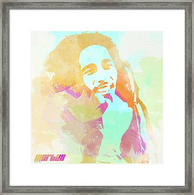 Bob Marley Framed Print by Naxart Studio