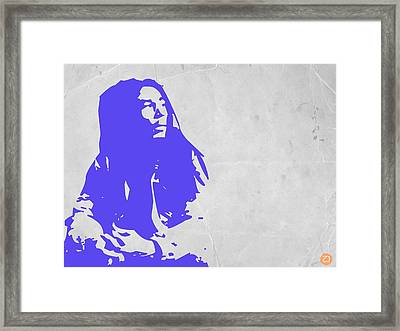 Bob Marley Purple Framed Print by Naxart Studio